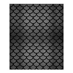 Scales1 Black Marble & Gray Brushed Metal Shower Curtain 60  X 72  (medium)  by trendistuff