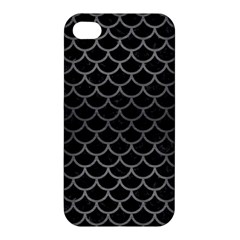 Scales1 Black Marble & Gray Brushed Metal (r) Apple Iphone 4/4s Hardshell Case by trendistuff