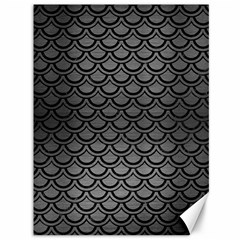 Scales2 Black Marble & Gray Brushed Metal Canvas 36  X 48   by trendistuff