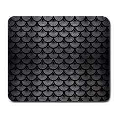 Scales3 Black Marble & Gray Brushed Metal Large Mousepads by trendistuff