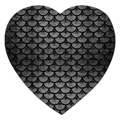 Scales3 Black Marble & Gray Brushed Metal Jigsaw Puzzle (heart) by trendistuff