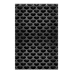 Scales3 Black Marble & Gray Brushed Metal (r) Shower Curtain 48  X 72  (small)  by trendistuff