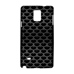 Scales3 Black Marble & Gray Brushed Metal (r) Samsung Galaxy Note 4 Hardshell Case by trendistuff