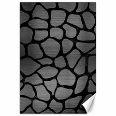 Skin1 Black Marble & Gray Brushed Metal (r) Canvas 12  X 18   by trendistuff