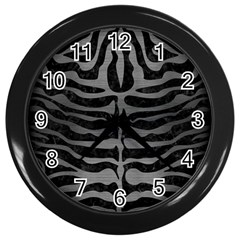 Skin2 Black Marble & Gray Brushed Metal (r) Wall Clocks (black) by trendistuff