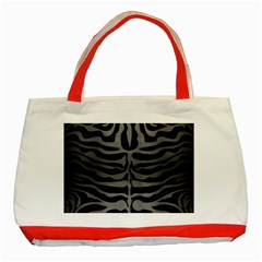Skin2 Black Marble & Gray Brushed Metal (r) Classic Tote Bag (red) by trendistuff