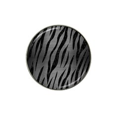 Skin3 Black Marble & Gray Brushed Metal Hat Clip Ball Marker by trendistuff