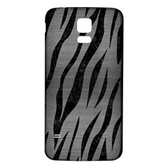 Skin3 Black Marble & Gray Brushed Metal Samsung Galaxy S5 Back Case (white) by trendistuff