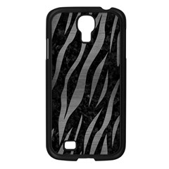 Skin3 Black Marble & Gray Brushed Metal (r) Samsung Galaxy S4 I9500/ I9505 Case (black) by trendistuff