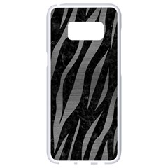 Skin3 Black Marble & Gray Brushed Metal (r) Samsung Galaxy S8 White Seamless Case by trendistuff