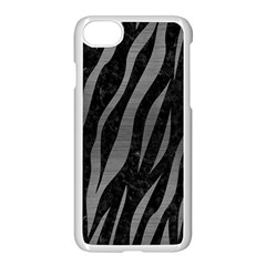 Skin3 Black Marble & Gray Brushed Metal (r) Apple Iphone 8 Seamless Case (white)