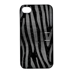 Skin4 Black Marble & Gray Brushed Metal Apple Iphone 4/4s Hardshell Case With Stand by trendistuff