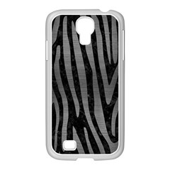 Skin4 Black Marble & Gray Brushed Metal Samsung Galaxy S4 I9500/ I9505 Case (white) by trendistuff