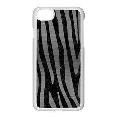 Skin4 Black Marble & Gray Brushed Metal Apple Iphone 7 Seamless Case (white) by trendistuff
