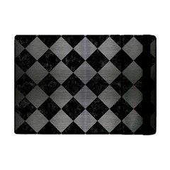 Square2 Black Marble & Gray Brushed Metal Apple Ipad Mini Flip Case