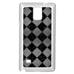 Square2 Black Marble & Gray Brushed Metal Samsung Galaxy Note 4 Case (white) by trendistuff