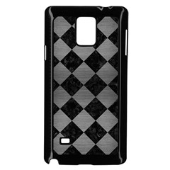 Square2 Black Marble & Gray Brushed Metal Samsung Galaxy Note 4 Case (black)