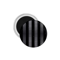 Stripes1 Black Marble & Gray Brushed Metal 1 75  Magnets by trendistuff