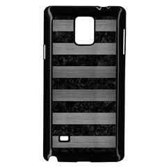Stripes2 Black Marble & Gray Brushed Metal Samsung Galaxy Note 4 Case (black)