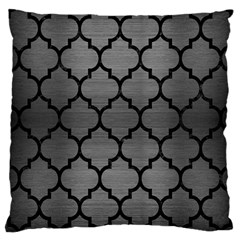 Tile1 Black Marble & Gray Brushed Metal Large Cushion Case (two Sides) by trendistuff