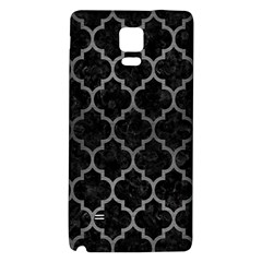 Tile1 Black Marble & Gray Brushed Metal (r) Galaxy Note 4 Back Case by trendistuff