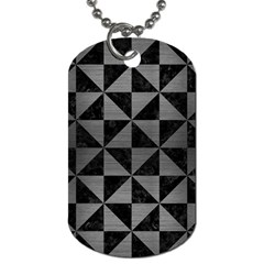 Triangle1 Black Marble & Gray Brushed Metal Dog Tag (one Side) by trendistuff