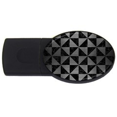 Triangle1 Black Marble & Gray Brushed Metal Usb Flash Drive Oval (4 Gb) by trendistuff
