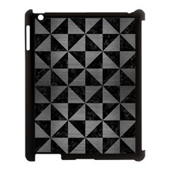 Triangle1 Black Marble & Gray Brushed Metal Apple Ipad 3/4 Case (black) by trendistuff
