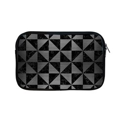 Triangle1 Black Marble & Gray Brushed Metal Apple Macbook Pro 13  Zipper Case by trendistuff