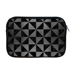 Triangle1 Black Marble & Gray Brushed Metal Apple Macbook Pro 17  Zipper Case by trendistuff
