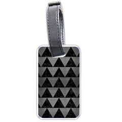 Triangle2 Black Marble & Gray Brushed Metal Luggage Tags (one Side)  by trendistuff