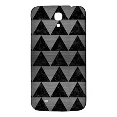Triangle2 Black Marble & Gray Brushed Metal Samsung Galaxy Mega I9200 Hardshell Back Case by trendistuff