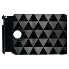 Triangle3 Black Marble & Gray Brushed Metal Apple Ipad 2 Flip 360 Case by trendistuff