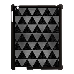 Triangle3 Black Marble & Gray Brushed Metal Apple Ipad 3/4 Case (black) by trendistuff