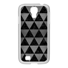 Triangle3 Black Marble & Gray Brushed Metal Samsung Galaxy S4 I9500/ I9505 Case (white) by trendistuff