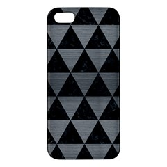 Triangle3 Black Marble & Gray Brushed Metal Iphone 5s/ Se Premium Hardshell Case by trendistuff