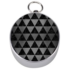 Triangle3 Black Marble & Gray Brushed Metal Silver Compasses by trendistuff