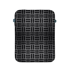Woven1 Black Marble & Gray Brushed Metal Apple Ipad 2/3/4 Protective Soft Cases by trendistuff