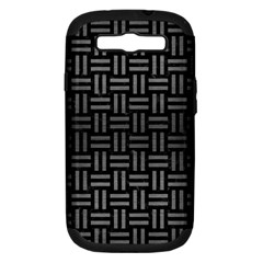 Woven1 Black Marble & Gray Brushed Metal (r) Samsung Galaxy S Iii Hardshell Case (pc+silicone) by trendistuff