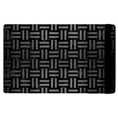Woven1 Black Marble & Gray Brushed Metal (r) Apple Ipad Pro 9 7   Flip Case by trendistuff