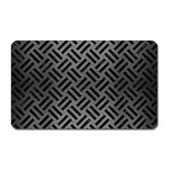 Woven2 Black Marble & Gray Brushed Metal Magnet (rectangular) by trendistuff