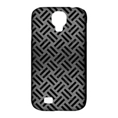 Woven2 Black Marble & Gray Brushed Metal Samsung Galaxy S4 Classic Hardshell Case (pc+silicone) by trendistuff