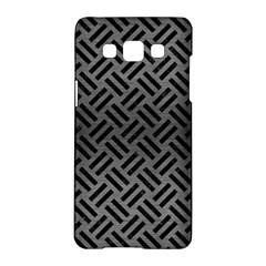 Woven2 Black Marble & Gray Brushed Metal Samsung Galaxy A5 Hardshell Case  by trendistuff