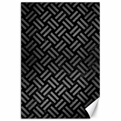 Woven2 Black Marble & Gray Brushed Metal (r) Canvas 20  X 30