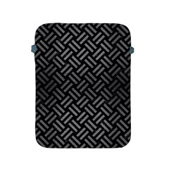 Woven2 Black Marble & Gray Brushed Metal (r) Apple Ipad 2/3/4 Protective Soft Cases by trendistuff
