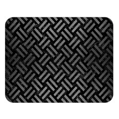Woven2 Black Marble & Gray Brushed Metal (r) Double Sided Flano Blanket (large)  by trendistuff