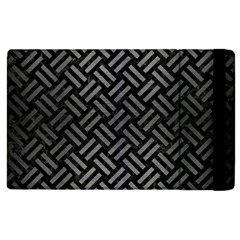 Woven2 Black Marble & Gray Brushed Metal (r) Apple Ipad Pro 12 9   Flip Case by trendistuff