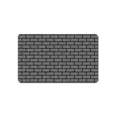 Brick1 Black Marble & Gray Denim Magnet (name Card) by trendistuff