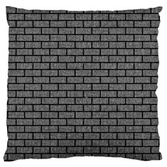 Brick1 Black Marble & Gray Denim Large Cushion Case (two Sides) by trendistuff