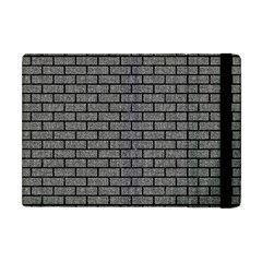 Brick1 Black Marble & Gray Denim Apple Ipad Mini Flip Case